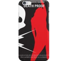No018 My Death Proof minimal movie poster iPhone Case/Skin