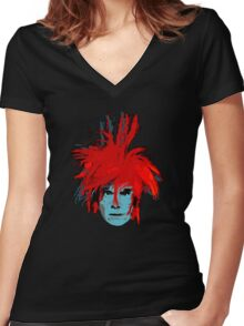 CoolPeeps-WaRHoL Women's Fitted V-Neck T-Shirt