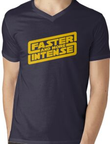 Faster, more intense! Mens V-Neck T-Shirt