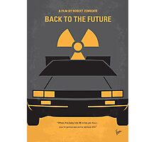 No183 My Back to the Future minimal movie poster part 1 Photographic Print