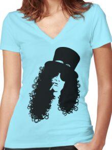 CoolPeeps-SLaSH Women's Fitted V-Neck T-Shirt