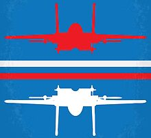 No128 My TOP GUN minimal movie poster by JiLong