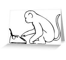 Smart Monkey Greeting Card