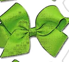 Green Bows Sticker