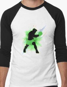 Super Smash Bros. Little Mac Silhouette Men's Baseball ¾ T-Shirt