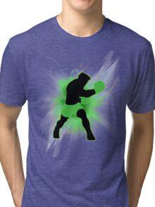 Super Smash Bros. Little Mac Silhouette Tri-blend T-Shirt