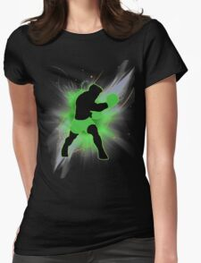 Super Smash Bros. Little Mac Silhouette Womens Fitted T-Shirt