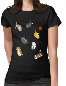 Kitten Rain Womens Fitted T-Shirt