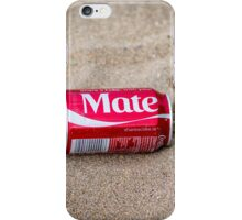 coca cola can washed up on sandy beach iPhone Case/Skin