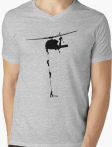 collecting the rent..... Mens V-Neck T-Shirt