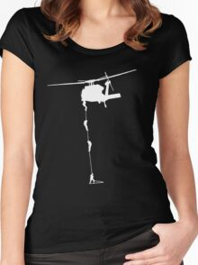 collecting the rent.... Women's Fitted Scoop T-Shirt