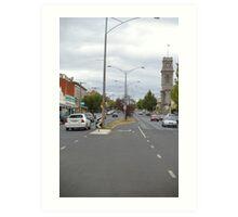 Barker Street , Castlemaine, central Victoria Art Print