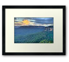 Dawn - Blue Mountains World Heritage Area- The HDR Experience  Framed Print