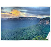 Dawn - Blue Mountains World Heritage Area- The HDR Experience  Poster