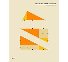 GEOMETRIC MEAN THEOREM Photographic Print