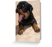 Yawn Greeting Card