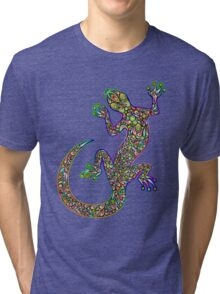 Psychedelic Lizard Gecko  Tri-blend T-Shirt
