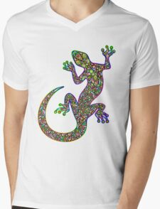 Psychedelic Lizard Gecko  Mens V-Neck T-Shirt