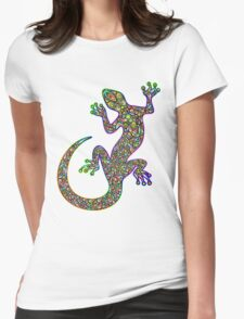 Psychedelic Lizard Gecko  Womens Fitted T-Shirt