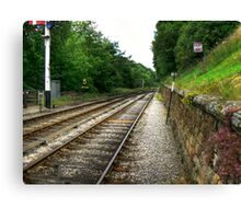 Down the Tracks - Goathland,North Yorkshire Canvas Print