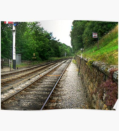 Down the Tracks - Goathland,North Yorkshire Poster
