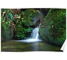 Waterfall - Megalong Valley NSW Poster