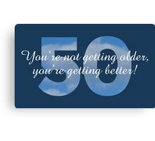 50th Birthday Sayings Design Canvas Print
