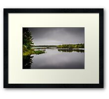 Sisters Lake Storm Framed Print
