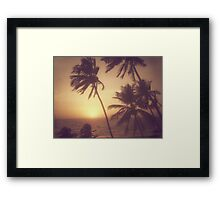 Sand, Beach, Sunset Framed Print