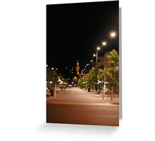 Hargreaves Street Mall by night Greeting Card