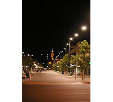 Hargreaves Street Mall by night Photographic Print