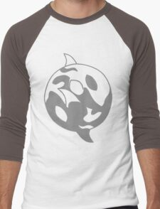 Yim&Yam The Orcas Pattern Men's Baseball ¾ T-Shirt