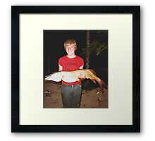 Proud Fisherman Framed Print