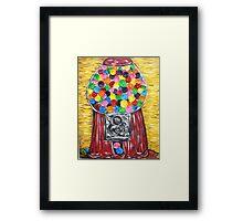 """Bubblegum Machine"" Framed Print"