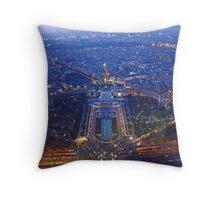 Paris from the Tour Eiffel Throw Pillow