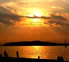 Alki Sunset by Halcyonclaire