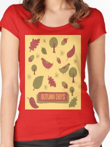 Autumn Days Women's Fitted Scoop T-Shirt
