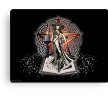 Book of knowledge .. the witches book Canvas Print