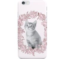 Kitten with flowers iPhone Case/Skin