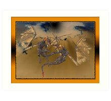 Volcanic Dragons Art Print