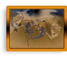 Volcanic Dragons Canvas Print