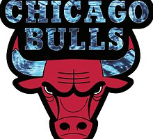 Chicago Bulls Logo Tie Dye  by purplehayes