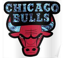 Chicago Bulls Logo Tie Dye  Poster