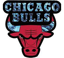Chicago Bulls Logo Tie Dye  Photographic Print