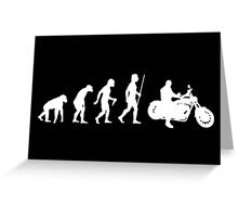 Funny Motorcycle Evolution Shirt Greeting Card