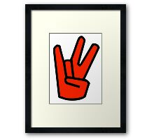 2 in the Pink 1 in the Stink Hand Signal Framed Print