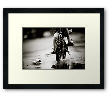 Wet Weather Madness... Framed Print