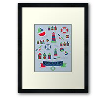 Nautical but Nice! Framed Print