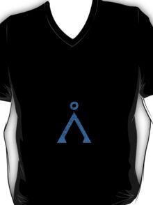 Earth symbol on black background T-Shirt