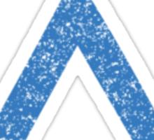 Earth symbol on black background Sticker